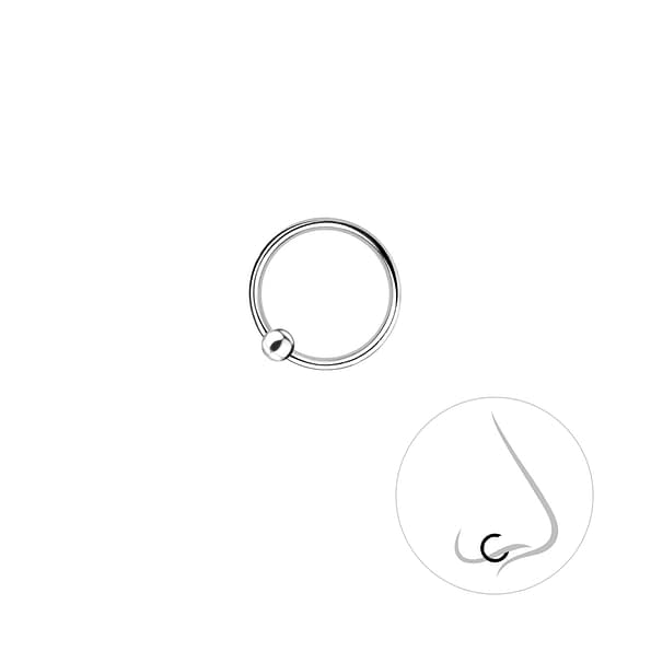 Wholesale 9mm Sterling Silver Ball Closure Ring - JD8681