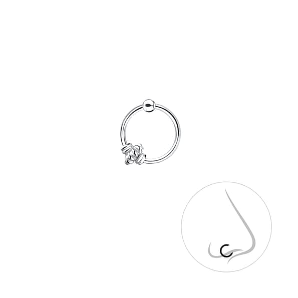 Wholesale Sterling Silver Bali Ball Closure Ring - JD8727