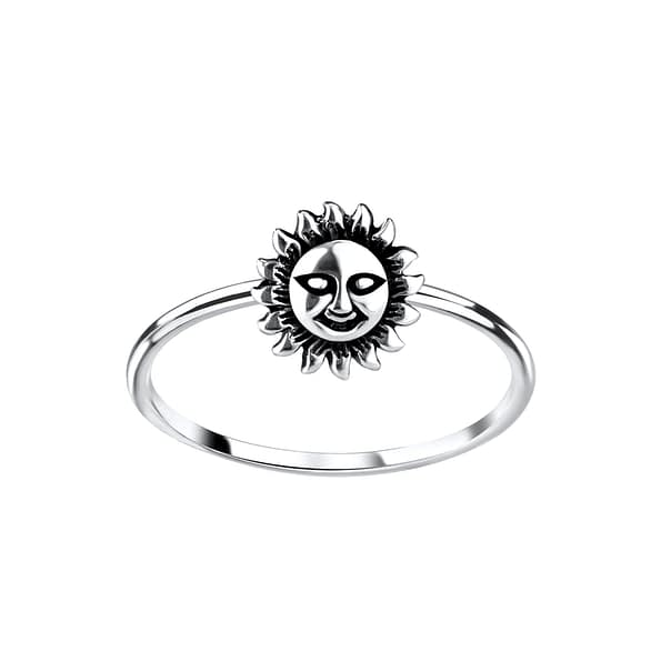 Wholesale Sterling Silver Sun Ring - JD9169