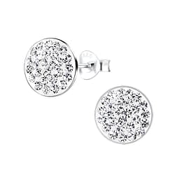 Wholesale Sterling Silver Round Ear Studs - JD8902