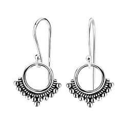 Wholesale Sterling Silver Ethnic Earrings - JD1389