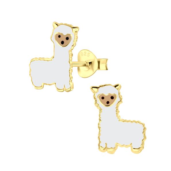 Wholesale Sterling Silver Alpaca Ear Studs - JD3014