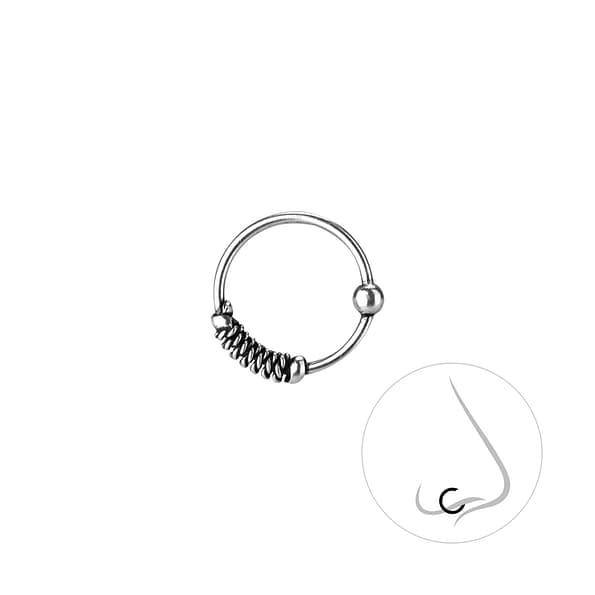 Wholesale 10mm Sterling Silver Nose Ring - JD8240