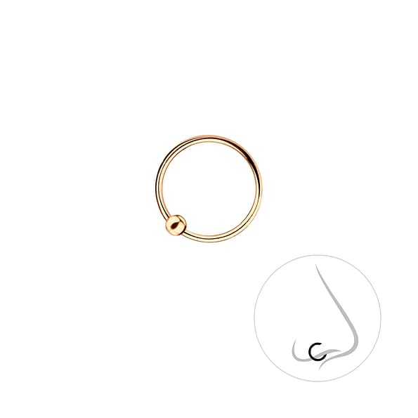Wholesale 10mm Sterling Silver Ball Closure Ring - JD7464