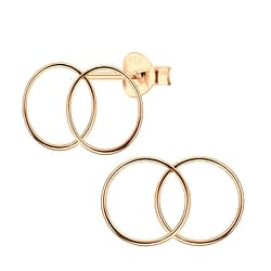 Wholesale Sterling Silver Double Circle Ear Studs - JD4827