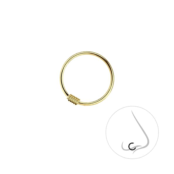 Wholesale 12mm Sterling Silver Nose Ring - JD7426