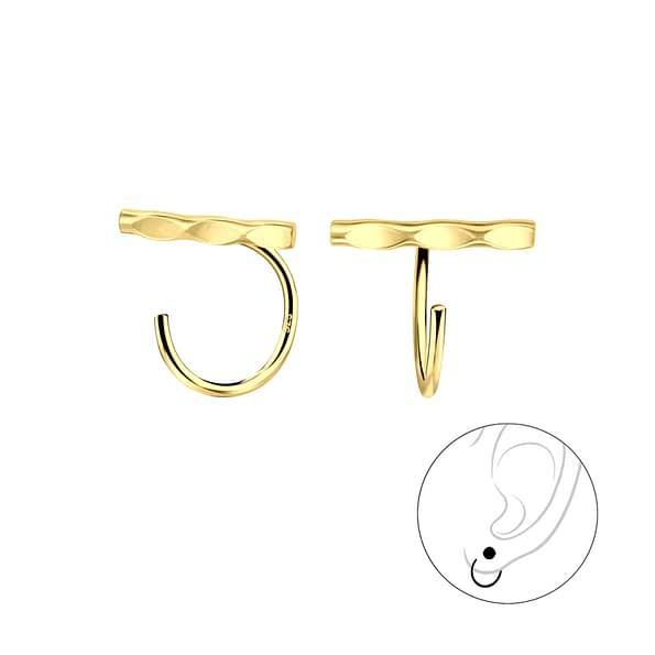 Wholesale Sterling Silver Bar Ear Huggers - JD7880
