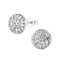 Wholesale Sterling Silver Round Ear Studs - JD8904