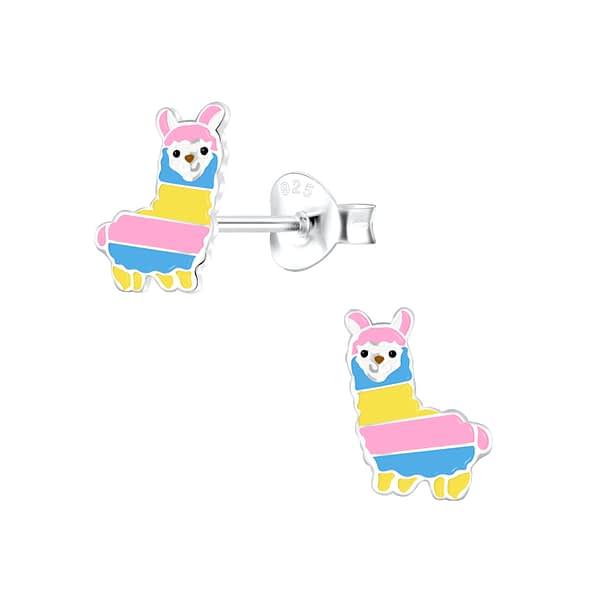 Wholesale Sterling Silver Alpaca Ear Studs - JD4589