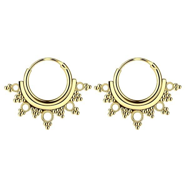 Wholesale 10mm Sterling Silver Bali Ear Hoops - JD5428