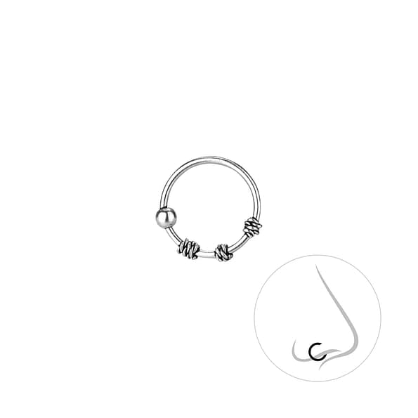 Wholesale 9mm Sterling Silver Nose Ring - JD8236