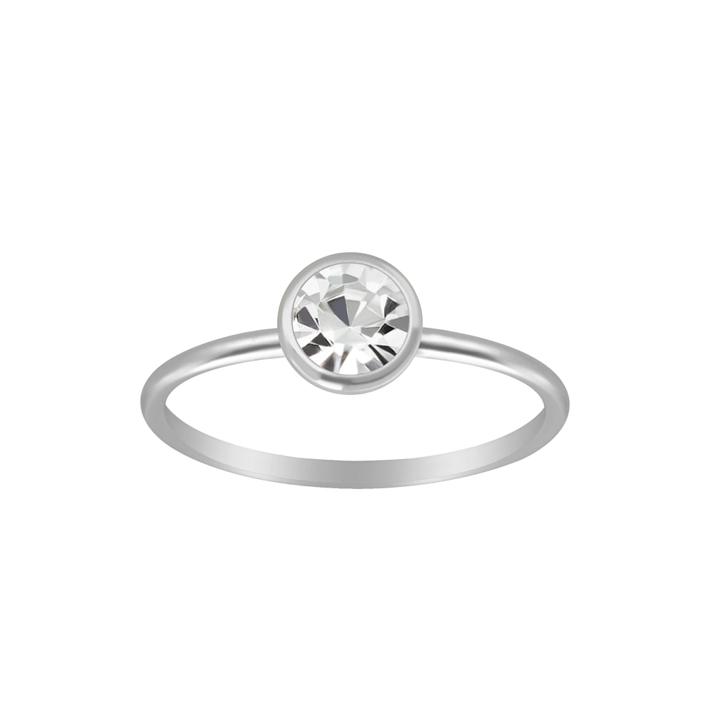 Wholesale Sterling Silver 5mm Solitaire Ring - JD3447