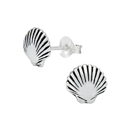 Wholesale Sterling Silver Shell Ear Studs - JD1007