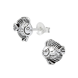 Wholesale Sterling Silver Fish Ear Studs - JD1008