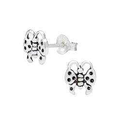 Wholesale Sterling Silver Butterfly Ear Studs - JD1011