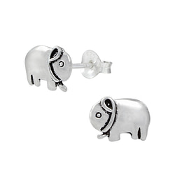 Wholesale Sterling Silver Elephant Ear Studs - JD1016