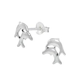 Wholesale Sterling Silver Dolphin Ear Studs - JD1017