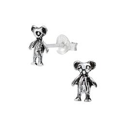 Wholesale Sterling Silver Bear Ear Studs - JD1020
