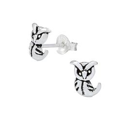 Wholesale Sterling Silver Owl Ear Studs - JD1027