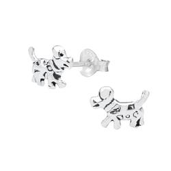 Wholesale Sterling Silver Dog Ear Studs - JD1030