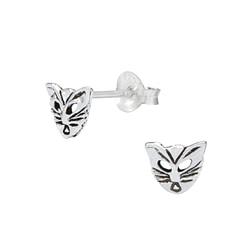 Wholesale Sterling Silver Mask Ear Studs - JD1036