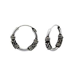 Wholesale 12mm Sterling Silver Bali Hoops - JD1484