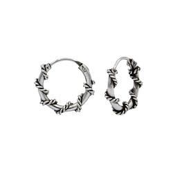 Wholesale 10mm Sterling Silver Bali Hoops - JD1492