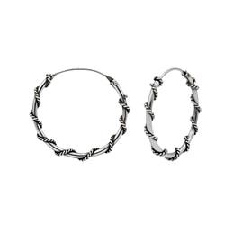 Wholesale 20mm Sterling Silver Bali Hoops - JD1493