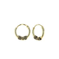 Wholesale 10mm Sterling Silver Bali Ear Hoops - JD5457