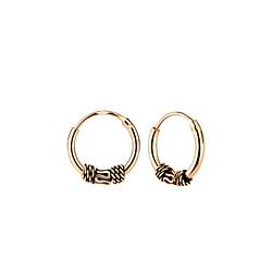 Wholesale 10mm Sterling Silver Bali Ear Hoops - JD5464