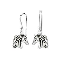 Wholesale Sterling Silver Horse Earrings - JD1411