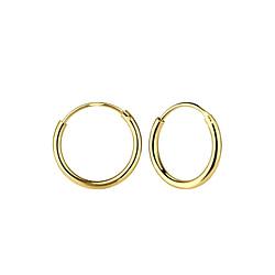 Wholesale 12mm Sterling Silver Ear Hoops - JD1312