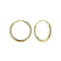 Wholesale 14mm Sterling Silver Ear Hoops - JD1314