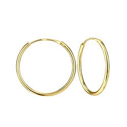 Wholesale 20mm Sterling Silver Ear Hoops - JD1318