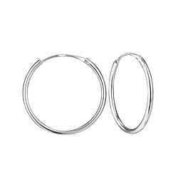 Wholesale 20mm Sterling Silver Ear Hoops - JD1319