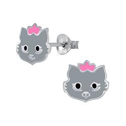 Wholesale Sterling Silver Cat Ear Studs - JD1558