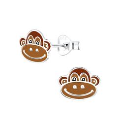 Wholesale Sterling Silver Monkey Ear Studs - JD1740