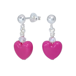Wholesale Sterling Silver Ear Studs with Heart - JD1814