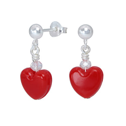Wholesale Sterling Silver Ear Studs with Heart - JD1815
