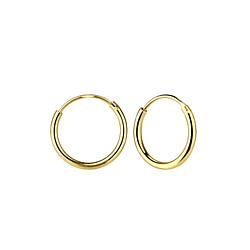 Wholesale 14mm Sterling Silver Ear Hoops - JD7479