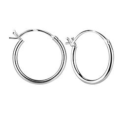 Wholesale 16mm Sterling Silver French Lock Ear Hoops - JD1612
