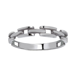 Wholesale Sterling Silver Chain Ring - JD1690