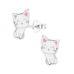 Wholesale Sterling Silver Cat Ear Studs - JD2001