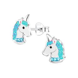 Wholesale Sterling Silver Unicorn Ear Studs - JD4014