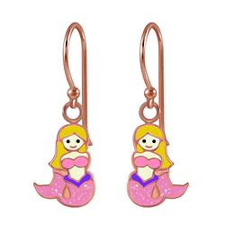 Wholesale Sterling Silver Mermaid Earrings - JD2773