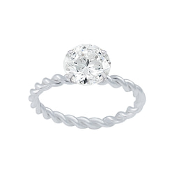 Wholesale Sterling Silver Solitaire Ring - JD2654