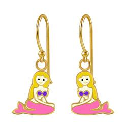 Wholesale Sterling Silver Mermaid Earrings - JD2808