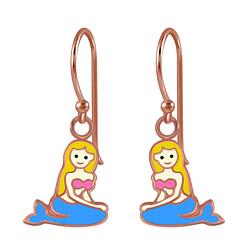 Wholesale Sterling Silver Mermaid Earrings - JD2817