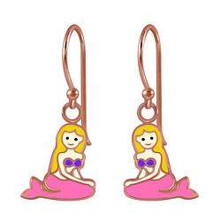 Wholesale Sterling Silver Mermaid Earrings - JD2809