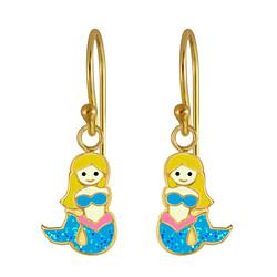 Wholesale Sterling Silver Mermaid Earrings - JD3010